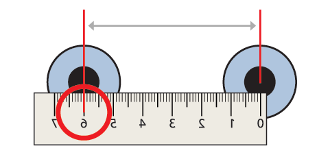 how to measure pd without a ruler