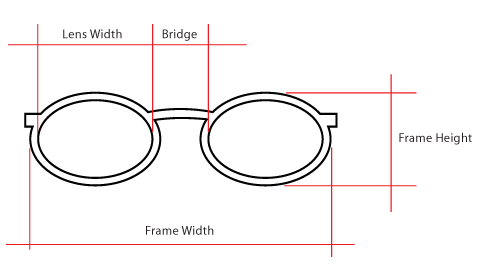 Eyeglass Frame Size Explained : EYE GLASS FRAME MEASURMENTS - Eyeglasses Online